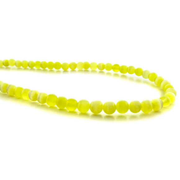4mm Fiberoptic Cats Eye Round Yellow 4CE06