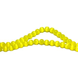 6mm Fiberoptic Cats Eye Round Yellow 6CE06