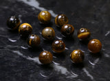 6mm Gemstone Rounds Tigers Eye Gr04