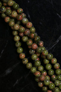 6mm Gemstone Rounds Unakite Gr06