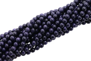 6mm Gemstone Rounds Blue Goldstone Gr17