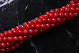 6mm Gemstone Rounds Coral Gr25
