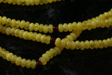 7x4mm Yellow Amber Gemstone Discs GR33