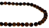 6mm Gemstone Rounds Tigers Eye Gr04 - Mi Amore