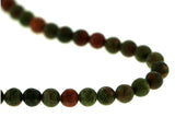 6mm Gemstone Rounds Unakite Gr06 - Mi Amore