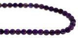 6mm Gemstone Rounds Amethyst Gr08 - Mi Amore
