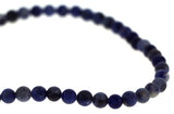 6mm Gemstone Rounds Sodalite Gr12 - Mi Amore