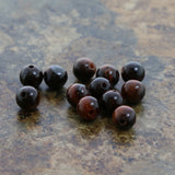 6mm Gemstone Rounds Red Tigers Eye Gr16