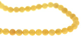 6mm Gemstone Rounds Yellow Jade Gr21 - Mi Amore
