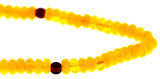 7x4mm Yellow Amber Gemstone Discs GR33 - Mi Amore