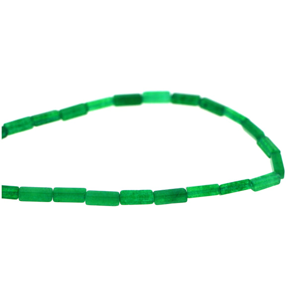 4x13mm rectangle gemstone beads Green Jade GRB04
