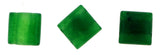 10x10mm Gemstone Spacer Emerald 25pc GRS17 - Mi Amore