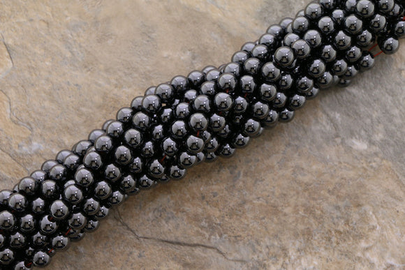 6mm Hp Magnetic Hematite Round HPM06