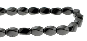 8X12mm Hp Magnetic Hematite Twist HPM27 - Mi Amore