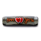 "Magnetic Hematite Id Bars ""Love You"" Idb04"