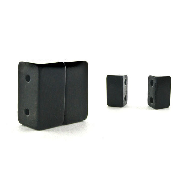 Magnetic Clasp 2 Hole Matte Black Sets Of 10 MC01