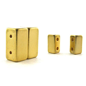 Magnetic Clasp 2 Hole Gold Plated Sets Of 10 MC04