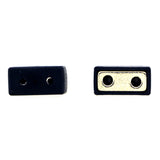 Magnetic Clasp 2 Hole Plastic Coated Black MC06