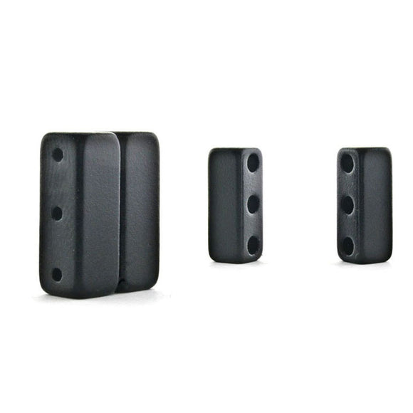 Magnetic Clasp 3 Hole Black Epoxy Sets Of 10 MC09