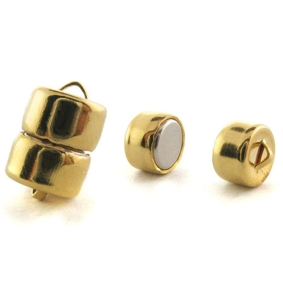 8mm Magnetic Clasp Set Of 12 Maglok Goldplate Loop MC24