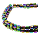 6mm Magnetic Hematite Rainbow Drum Mh58