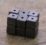 4X4mm Magnetic Hematite Cube Mh12