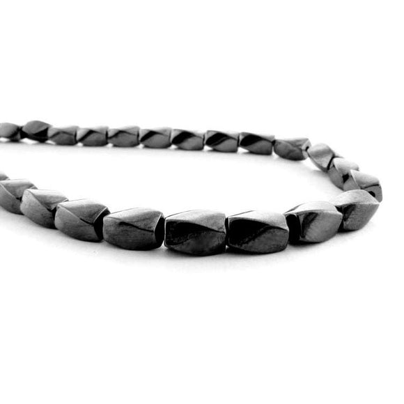 4X7mm Magnetic Hematite Twist Mh21