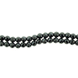 6mm Magnetic Hematite Faceted Round Mh31