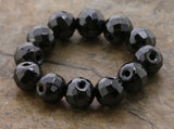 8mm Magnetic Hematite Faceted Round Mh33