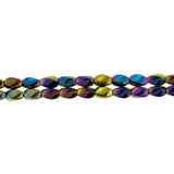5X8mm Magnetic Hematite Rainbow Twist MH34