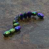4X6mm Magnetic Hematite Rainbow Rice/Oval Mh42
