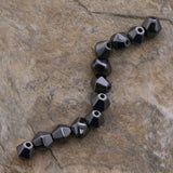 6X6mm Magnetic Hematite Bicone Mh45