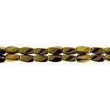 6X12mm Magnetic Hematite Bronze Twist Mh49