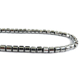 6mm Magnetic Hematite Silverplated Drum MH64