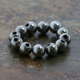 5mm Magnetic Hematite Silverplate Round Mh73