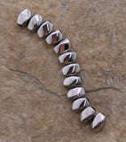 5X8mm Magnetic Hematite Silverplated Twist Mh74