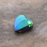8mm Rainbow Puffed Heart Magnetic Hematite MH80