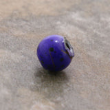6mm Magnetic Marble Round Purple MM05