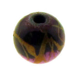 6mm Magnetic Marble Round Brown MM07