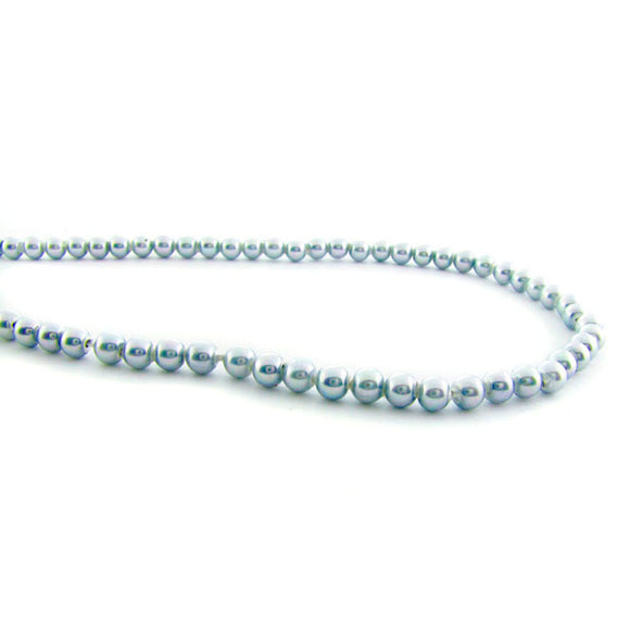 4mm Magnetic Pearl Silver Blue Round MP03