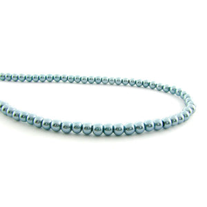 4mm Magnetic Pearl Med Silver Blue Round MP05