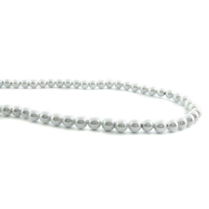 4mm Magnetic Pearl Silver White Round MP06