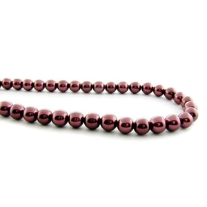 6mm Magnetic Pearl Burgundy Brown Round MP10