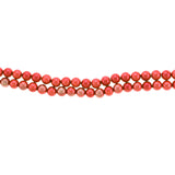 6mm Magnetic Pearl Salmon Pink Round MP12