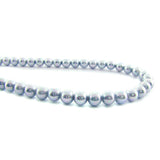6mm Magnetic Pearl Pale Silver Blue Round MP14