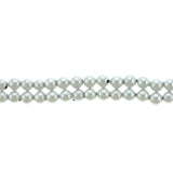 6mm Magnetic Pearl Silver White Round MP16