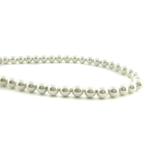 6mm Magnetic Pearl Off White Round MP18