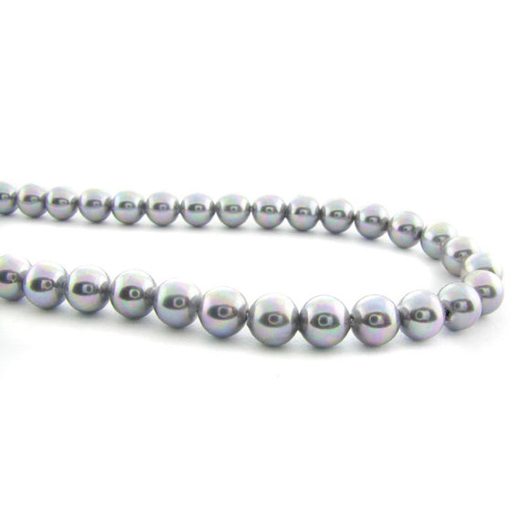 6mm Magnetic Pearl Med Silver Gray Round MP20