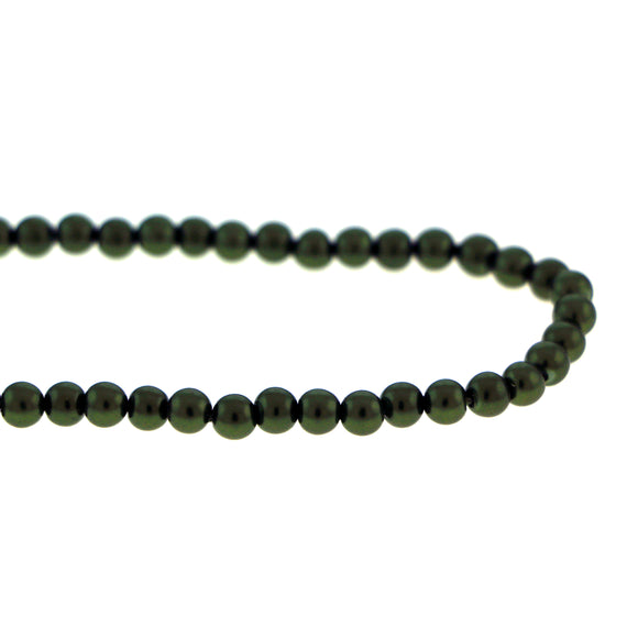 6mm Magnetic Pearl Dk Green Round MP24
