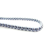 6mm Magnetic Pearl Med Steel Blue Round MP29